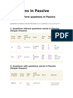 Questions in Passive