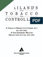 Thai Tobacco Control Laws
