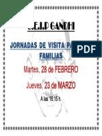 Cartel Jornadas Visitas Padres