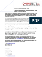 Pressemitteilung www.onlinetexte.com | Vorstellung des Unternehmens