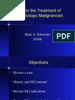 Donor Leukocyte Infusions (DLI) for Hematologic malignancies