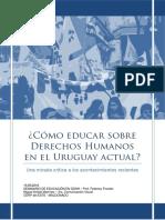 ¿Cómo Educar Sobre Derechos Humanos en El Uruguay Actual