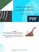 Analiza Atragerii Investițiilor În RM