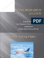marketing research (six steps)