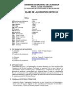 Silabo de Fisica II - 2015-II - Ingenieria Civil