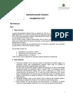 Especificación Técnica Pavimentos Tcp