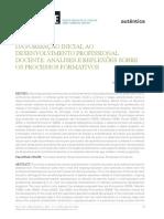 Da Formação Inicial Ao Desenvolvimento Profissional Docente_ Análises e Reflexões Sobre Os Processos Formativos