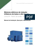 WEG Motor de Inducao Trifasico de Baixa e Alta Tensao Rotor de Aneis 11066443 Manual Portugues Br