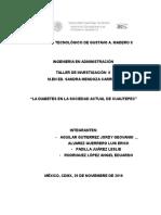 Proyecto de Investigación Final La Diabetes.