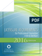 Licensure Requirements 2016 Edition