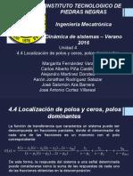 4.4 Localización de Polos y Ceros, Polos Dominantes