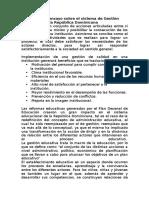 Sistema de Gestión Educativa en La República Dominicana