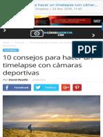 10 consejos para hacer un timelapse con cámara deportiva