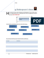 Introducing Shakespeare's Times