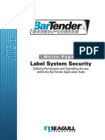Bartender LabelSystemSecurity