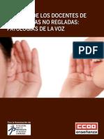 Pub100147 La Salud de Los Docentes de Ensenanzas No Regladas Patologias de La Voz