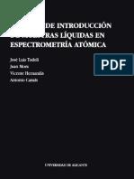 Sistemas de Introducción de Muestras Líquidas en Espectrometría Atómica