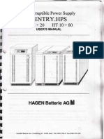 Manual de Usuario UPS SENTRY HPS