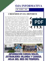 Hoja informativa de enero Colegio Pinosierra