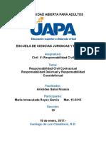 Tarea 3-Responsabilidad Contractual, Delictual y Cuasidelictual