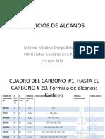 Ejercicios de Alcanos, Alquenos, Alquinos