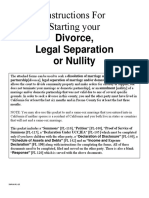Starting a Divorce, Legal Separation or Nullity