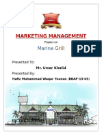 Marketig Management Project Report By Waqar Vickh