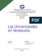 Exposicion Universidades en Venezuela