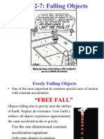 Free Fall Lecture 3