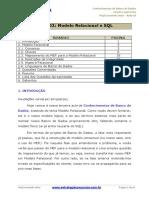 Aula 02 - Conhecimentos de Banco de Dados - Modelo Relacional e SQL