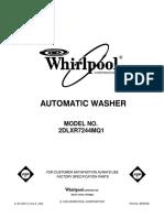 ## crosley Whirlpool top load single sRepair Part List - 8539784.pdf