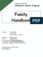 2015 Family Handbook