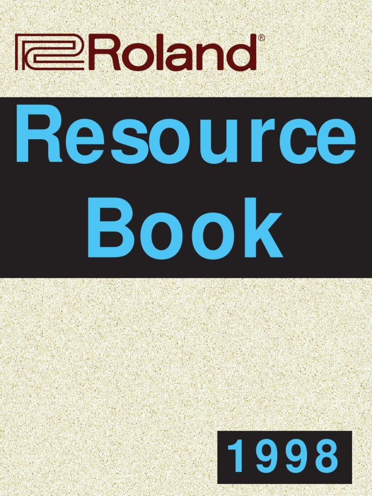 Roland Resource Book | Synthesizer | Drum Kit