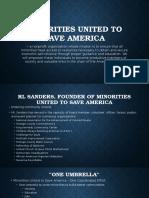 minorities united to save america