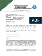 Salida de Campo Teorías y Métodos de Investigación en Geografía 2016 I
