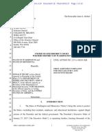 Washington, Minnesota attorneys general's lawsuit against Trump immigration ban