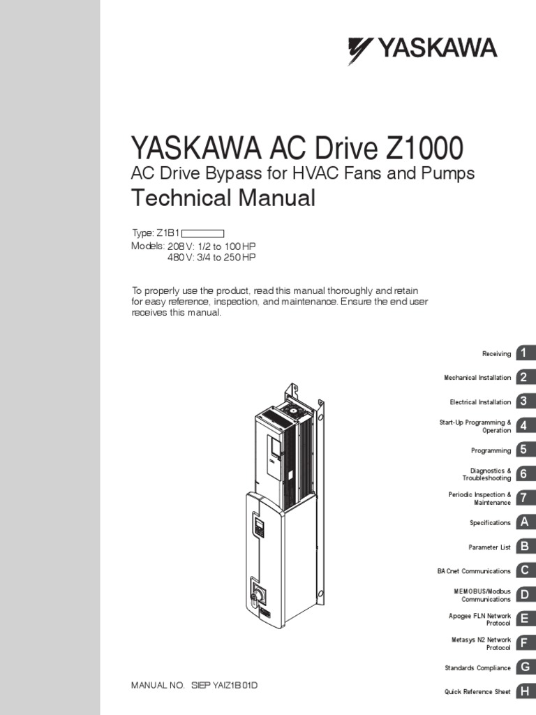 Yaskawa z1000 bypass wiring diagram circuit connection diagram z1000 bypass tech manual electrical wiring building automation rh scribd com servo wiring diagram kubota asfbconference2016 Gallery