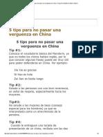 Consejos Para No Pasar Una Verguenza en China – Kung Tse Instituto Oriental Confucio
