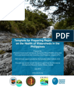 Watershed Report Card Template Iloilo Watershed Management Council
