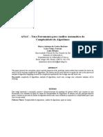 ANAC-Uma Ferramenta Para Analise Automatica Da Com