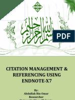 EndNote X7 (Workshop)