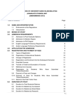 PPS - Regulations of USIM (Graduate Studies)
