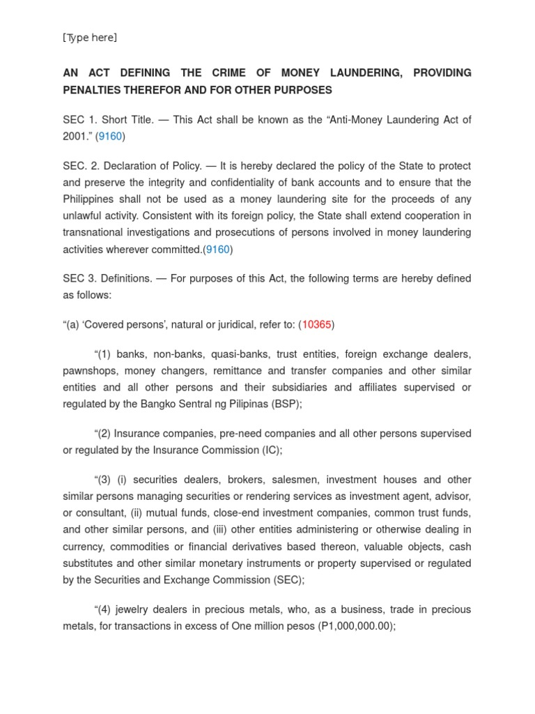 money laundering act nigeria pdf