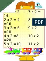 2 -9乘法表