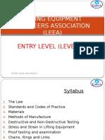 LEEA- Entry Level