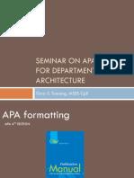 APA Format. Data, References