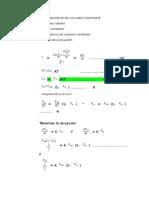 Reactor Intirmitente de Volumen Constante
