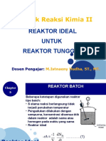 Chapter 5 Ideal Reactors for a Single Reaction
