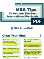 MBACrystalBall 50 MBA Tips