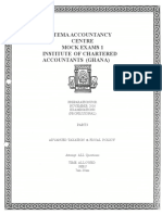 Advanced Taxation & Fiscal Policy-question